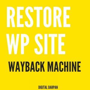 restore website wayback machine